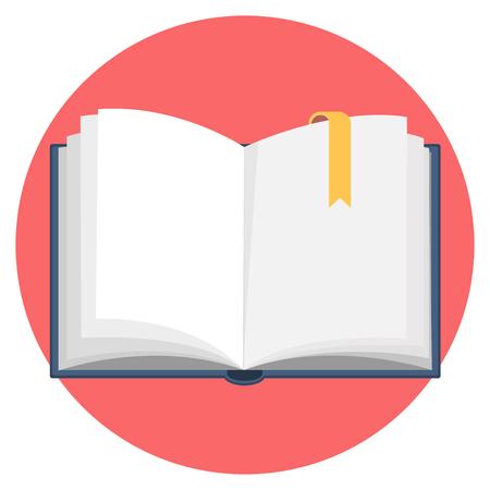 open blank book flat design icon