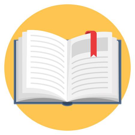 Open book flat design icon 版權商用圖片 - 104711127