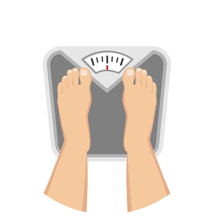 Feet on weighing scales Flat Design Icon Çizim