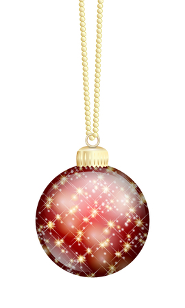 red christmas ball isolated Stock Photo