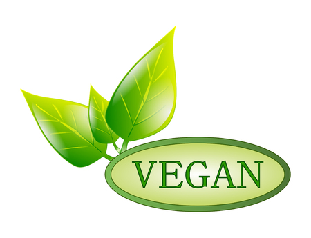 green vegan symbol on white background Stock Photo