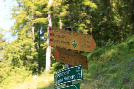 kaiser: Sign in the Kaiser mountains