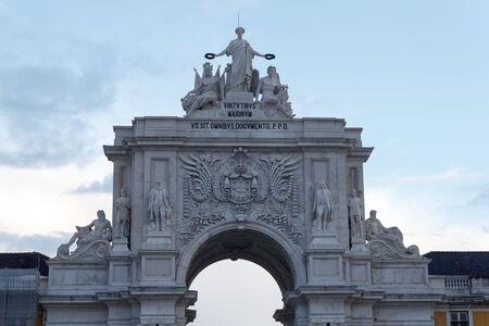 augusta: Rua Augusta Arco delante de Lisboa por la noche