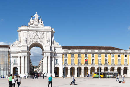 augusta: Rua Augusta Arch front in Lisbon