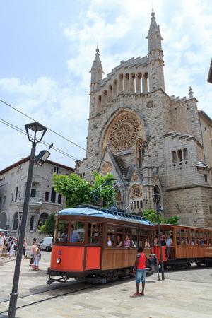 tramcar: Tramcar in Soller, Majorca, Spain