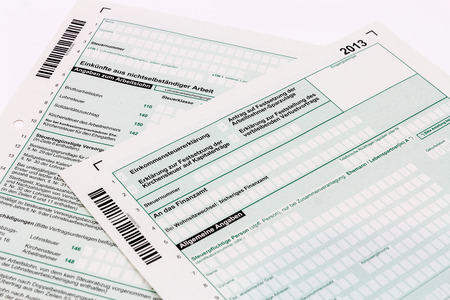 Form of income tax return