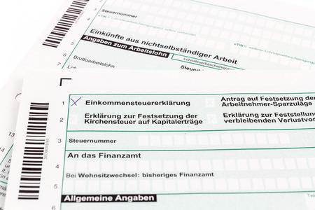 statutory: Form of income tax return