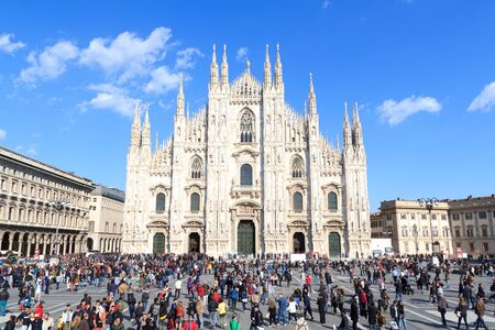 Milan Cathedral with blue sky
