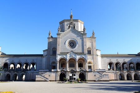 monumental: Chapel Famedio at Monumental Cemetery Monumental Cemetery in Milan