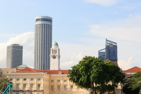 civilisations: Asian civilisations museum and clock tower in Singapore