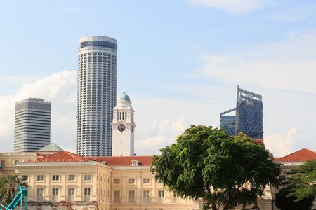 civilisations: Asian civilisations museum and clock tower in Singapore