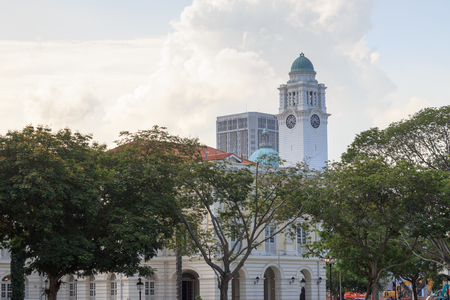 civilisations: Victoria Theatre and Concert Hall clock tower in Singapore