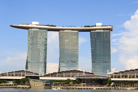 marina bay: Marina Bay Sands hotel, Singapore Editorial
