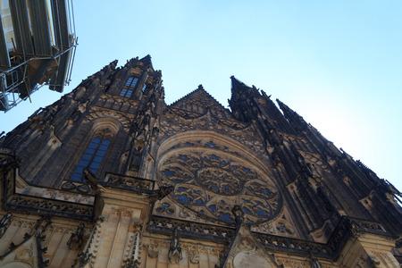 vitus: St. Vitus Cathedral front in Prague Castle