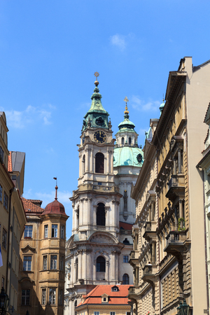 nicholas: St. Nicholas Church in Mala Strana Lesser Town, Prague Stock Photo