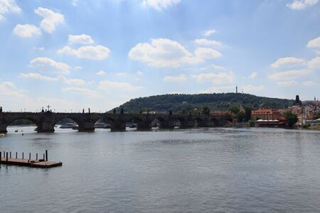 charles bridge: Charles Bridge and river Vltava in Prague