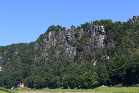 rock formation: Bastei rock formation in Rathen, Saxon Switzerland