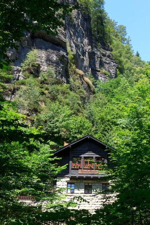 saxon: Restaurant Amselfall and mountains in Rathen, Saxon Switzerland