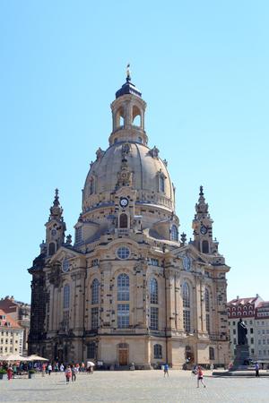 frauenkirche: Church Dresden Frauenkirche at Neumarkt, Germany