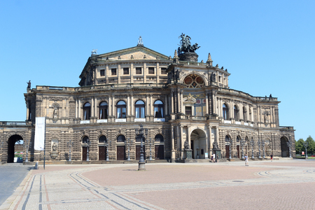 saxon: Saxon State Opera Semperoper in Dresden, Germany Editorial