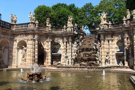 watergarden: Water garden Nymphenbad in palace Zwinger, Dresden