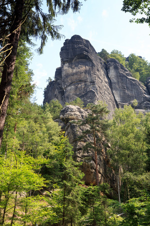 saxon: Rock Schrammsteine in Saxon Switzerland Stock Photo
