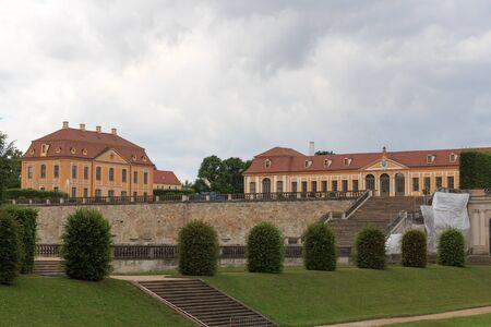 friedrich: Friedrich palace and orangery at Baroque garden Grosssedlitz in Heidenau, Saxony