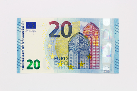 euro area: New twenty 20 euro banknote bill front from the europe series