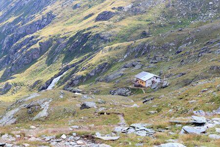 alpine hut: Alpine hut Eisseehutte in Hohe Tauern Alps, Austria