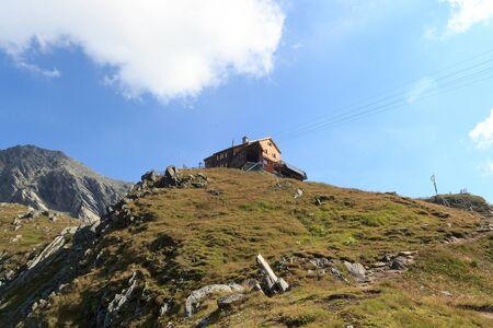 alpine hut: Alpine hut Bonn Matreier Hutte in Hohe Tauern alps, Austria