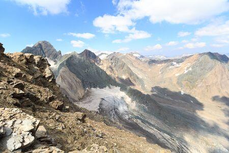 hohe tauern: Mountain and glacier panorama in Hohe Tauern Alps, Austria