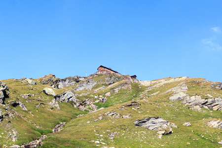 alpine hut: Alpine hut Badener Hutte on mountain in Hohe Tauern Alps, Austria