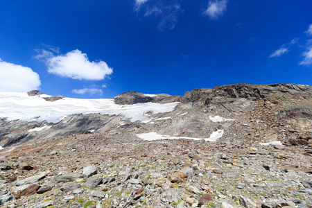 hohe tauern: Glacier panorama with mountain Kristallwand in Hohe Tauern Alps, Austria Stock Photo