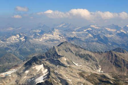 wildkogel austria: Panorama view with mountain Wildenkogel in Hohe Tauern Alps, Austria
