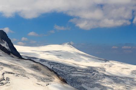 hohe tauern: Mountain Kleinvenediger and glacier in Hohe Tauern Alps, Austria Stock Photo
