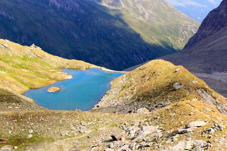 hohe tauern: Mountain panorama view with lake in Hohe Tauern Alps, Austria