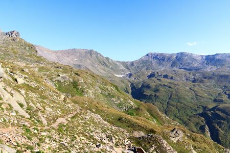 hohe tauern: Mountain panorama view in Hohe Tauern Alps, Austria Stock Photo