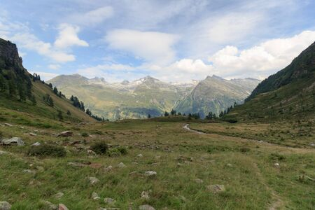 hohe tauern: Mountain panorama with Riegelkopf in Hohe Tauern Alps, Austria Stock Photo