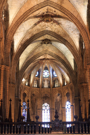 barcelona cathedral: View of the Barcelona Cathedral interior, Spain