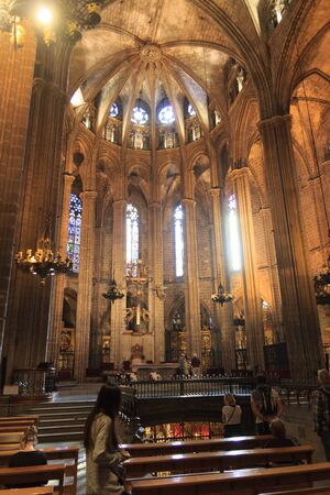 barcelona cathedral: Altar and church Barcelona Cathedral interior, Spain