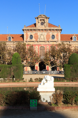 desolation: Parliament of Catalonia and Desolation sculpture, Parc de la Ciutadella in Barcelona