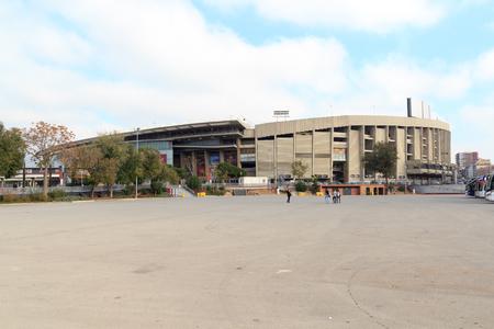 Football stadium Camp Nou outside in Barcelona