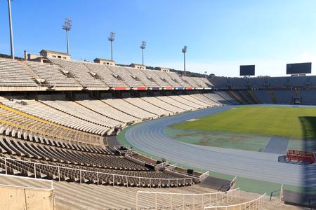montjuic: Barcelona Olympic Stadium (Estadi Olimpic Lluis Companys) on mountain Montjuic, Spain