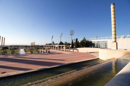 montjuic: Barcelona olympic park (Anella Olimpica) on Montjuic