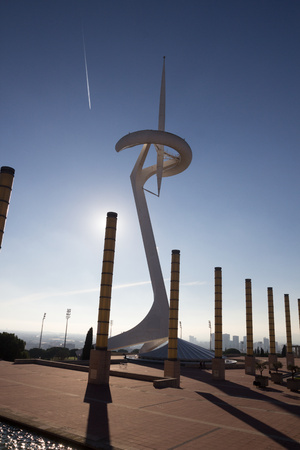 montjuic: Montjuic Communications Tower at barcelona olympic park