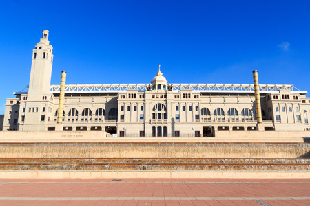 olympic: Barcelona Olympic Stadium (Estadi Olimpic Lluis Companys) facade, Spain