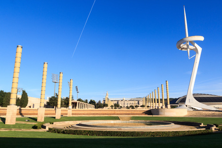 montjuic: Barcelona Olympic Stadium, olympic park, Placa d Europa and Montjuic Communications Tower