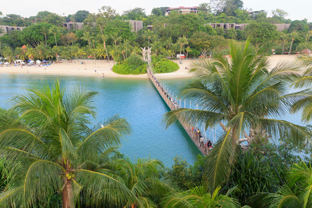 southernmost: Suspension bridge linking Palawan Beach to the Southernmost Point of Continental Asia, Sentosa Island, Singapore