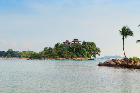 palawan: Viewing towers at Palawan Beach - Southernmost Point of Continental Asia, Sentosa Island, Singapore