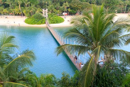 palawan: Suspension bridge linking Palawan Beach to the Southernmost Point of Continental Asia, Sentosa Island, Singapore